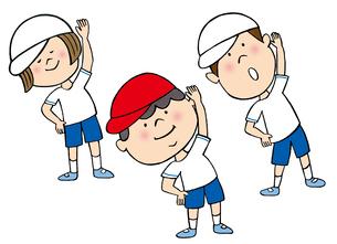 体操している子供たちのイラスト素材 [FYI02659922]