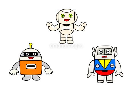 3体のロボットのイラスト素材 [FYI02659923]