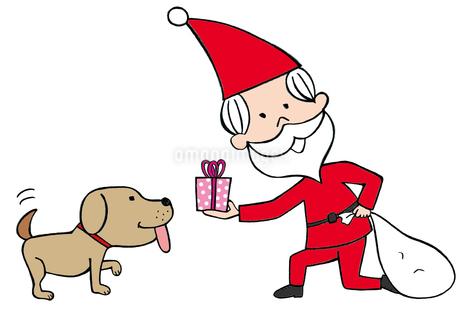 サンタクロースと犬のイラスト素材 [FYI02659939]