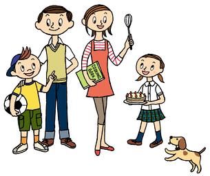 家族と犬のイラスト素材 [FYI02659952]