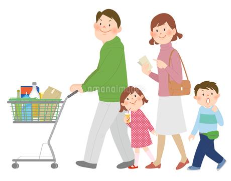 家族とショッピングのイラスト素材 [FYI02659958]