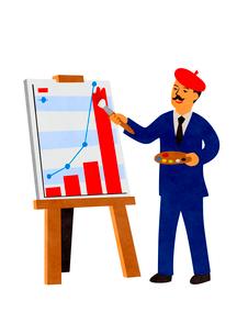 グラフを描くビジネスマンのイラスト素材 [FYI02659967]