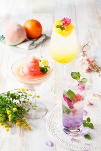 春のフラワーカクテル集合イメージの写真素材 [FYI02659980]