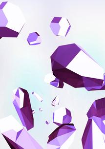 ランダムに浮かぶ宝石 紫のイラスト素材 [FYI02660036]