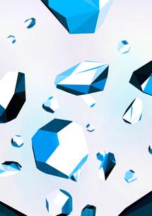 ランダムに浮かぶ宝石-青のイラスト素材 [FYI02660038]