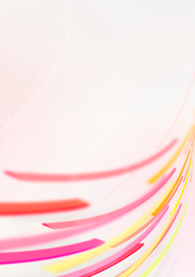 ピンクとイエローの流れるラインのイラスト素材 [FYI02660042]