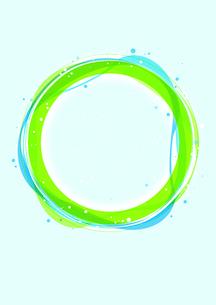 地球に見立てた緑と青の輪のイラスト素材 [FYI02660047]