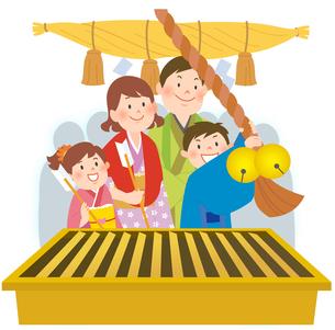 親子で初詣のイラスト素材 [FYI02660083]