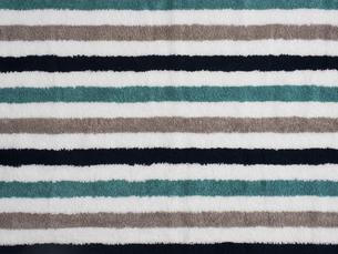 縞模様のタオルの生地の写真素材 [FYI02660273]