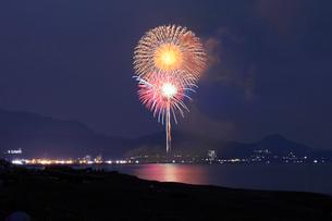 ぎおん柏崎まつり 海の大花火大会の写真素材 [FYI02660743]