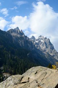 グランドティトン国立公園のジェニーレイクのインスピレーションポイントからの展望展望の写真素材 [FYI02661287]