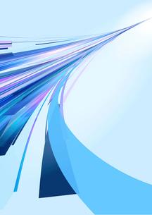 奥に伸びる青や紫の光のラインのイラスト素材 [FYI02661539]
