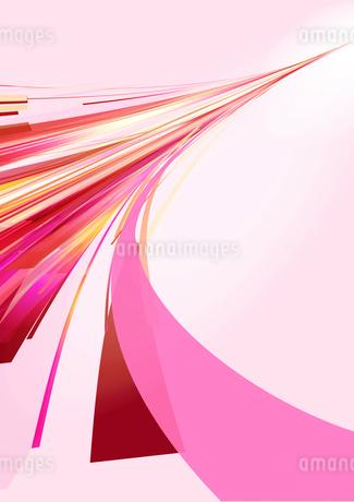 奥に伸びるピンクの光のラインのイラスト素材 [FYI02661578]