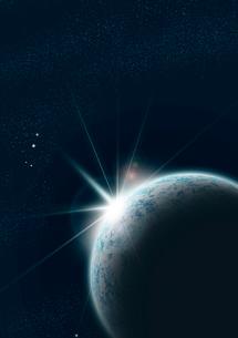 朝日の昇るリアルな地球のイラスト素材 [FYI02661596]
