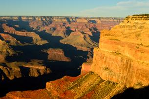 グランドキャニオン国立公園のモハーベポイントから夕日の展望の写真素材 [FYI02661632]
