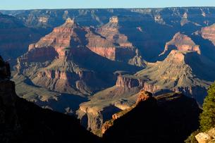 グランドキャニオン国立公園のブライトエンジェルトレイルヘッドからの展望の写真素材 [FYI02661701]