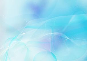 幻想的な水色の光の流れのイラスト素材 [FYI02661841]