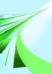 奥に伸びる緑の光のラインのイラスト素材 [FYI02661956]