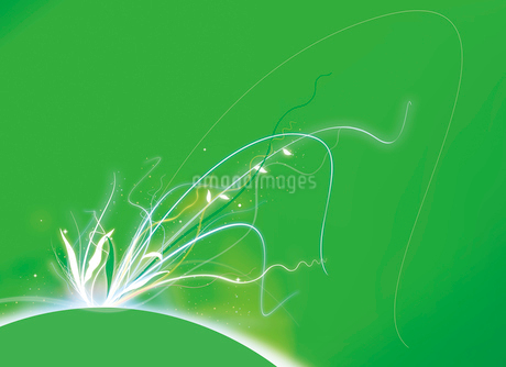 地球と植物と光のイメージのイラスト素材 [FYI02662030]