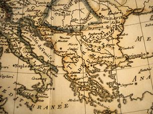 古地図 イタリアとギリシャの写真素材 [FYI02662039]