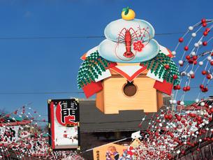浅草仲見世通りの正月飾りの写真素材 [FYI02662123]