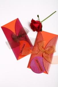花とペーパーアイテムの写真素材 [FYI02662501]