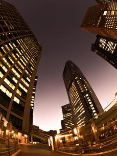 東京都 汐留の高層ビル街の写真素材 [FYI02662509]