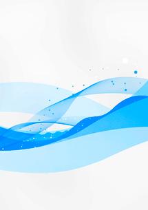 水の流れに見立てた水色のラインの重なりのイラスト素材 [FYI02662538]