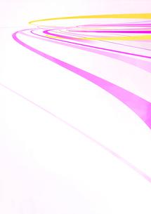 円を描くように流れる黄色やピンクの光のラインのイラスト素材 [FYI02662539]