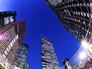 東京都 汐留の高層ビル街の写真素材 [FYI02662557]