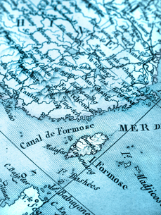 古地図 台湾の写真素材 [FYI02662641]