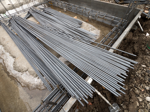建物の基礎工事の写真素材 [FYI02662797]
