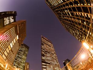 東京都 汐留の高層ビル街の写真素材 [FYI02663319]