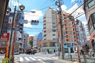団子坂下交差点 千駄木駅の写真素材 [FYI02663590]