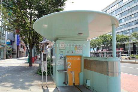 千葉駅前の駐輪場エコサイクル 千葉市の写真素材 [FYI02663718]