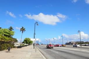マレコン通り ハバナ市内の写真素材 [FYI02663749]