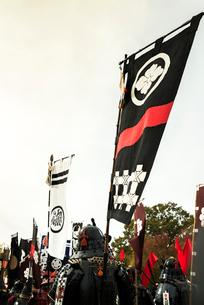 戦国イベントののぼり旗の写真素材 [FYI02663953]