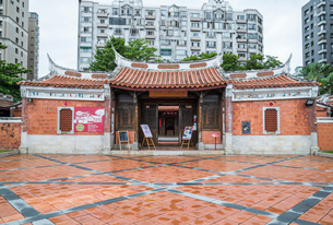 台湾民俗文物館正面の写真素材 [FYI02664019]