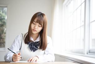 勉強をしている女子高生の写真素材 [FYI02664141]