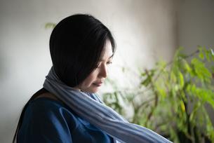 ストールを巻いている女性の写真素材 [FYI02664184]