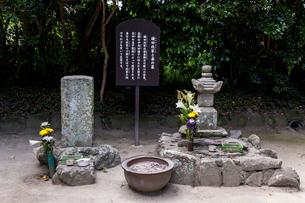 鎌田政家と妻の墓の写真素材 [FYI02664431]