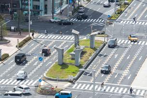 久屋大通りと錦通りの交差点を見下ろすの写真素材 [FYI02664502]
