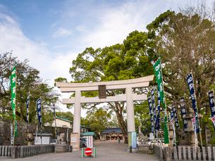 熊本城内にある加藤神社の写真素材 [FYI02664612]