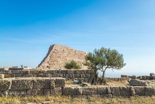 古代ペルガモン遺跡アクロポリス風景の写真素材 [FYI02664665]