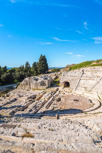 ネアポリス考古学公園のギリシャ劇場の写真素材 [FYI02664799]