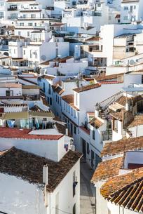白い家並み風景の写真素材 [FYI02664822]