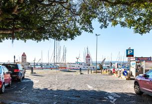 オルティージャ島マリーナ風景の写真素材 [FYI02664825]