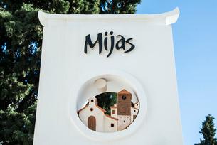 ミハスの看板のオブジェの写真素材 [FYI02664898]