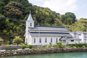 上五島の中の浦教会の写真素材 [FYI02665034]