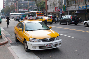 台北のタクシーの写真素材 [FYI02665337]